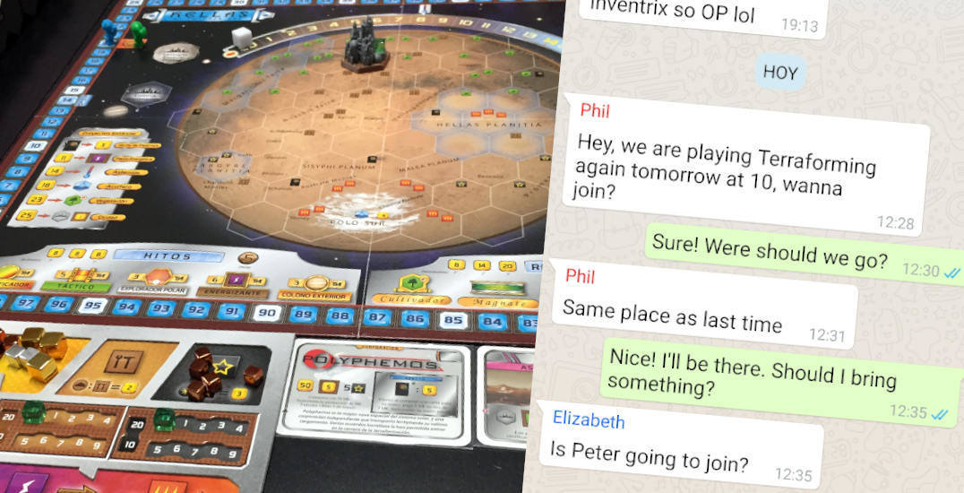 How to find people to play Terraforming Mars with